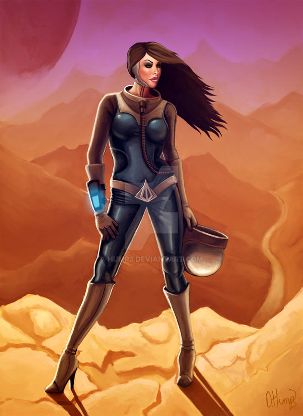 Sci Fi Pin Up By Hump3 On Deviantart