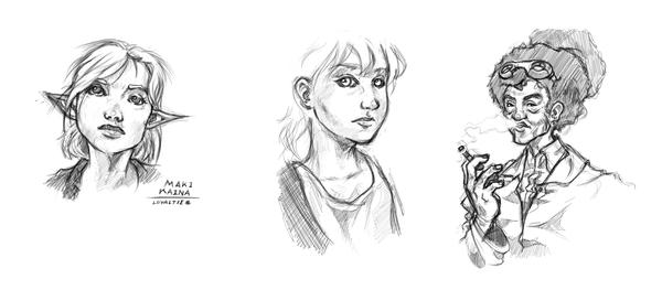 Sketches 1 by Paper-Domino