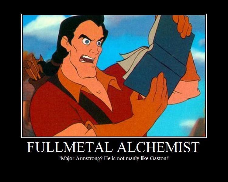 Gaston Reads Fullmetal Alchemist by 621Chopsuey on DeviantArt