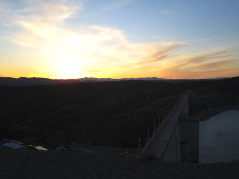 Elephant Butte Dam at Sunset