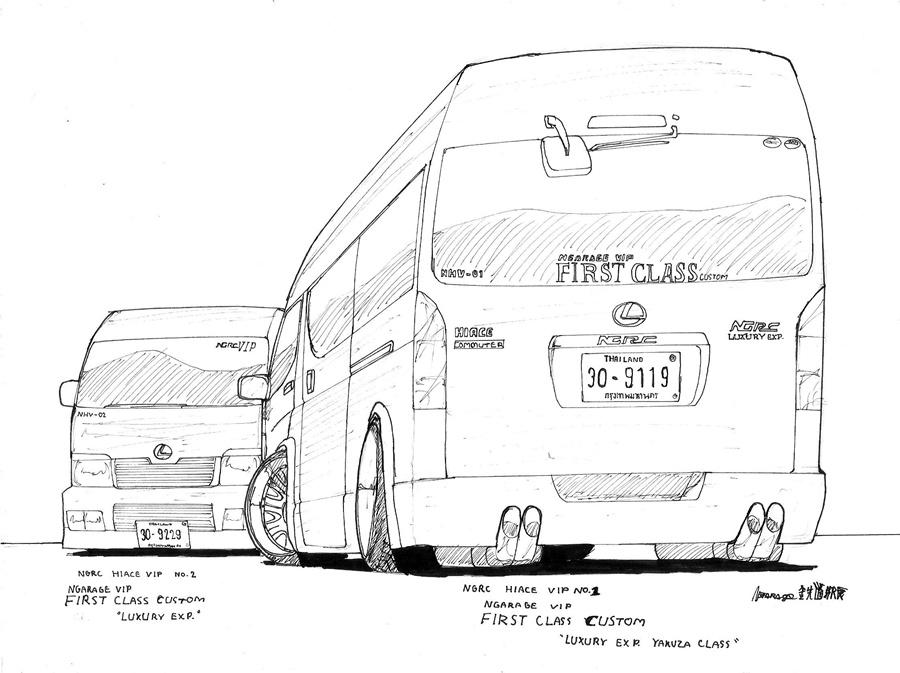 lexus toyota commuter van thailand