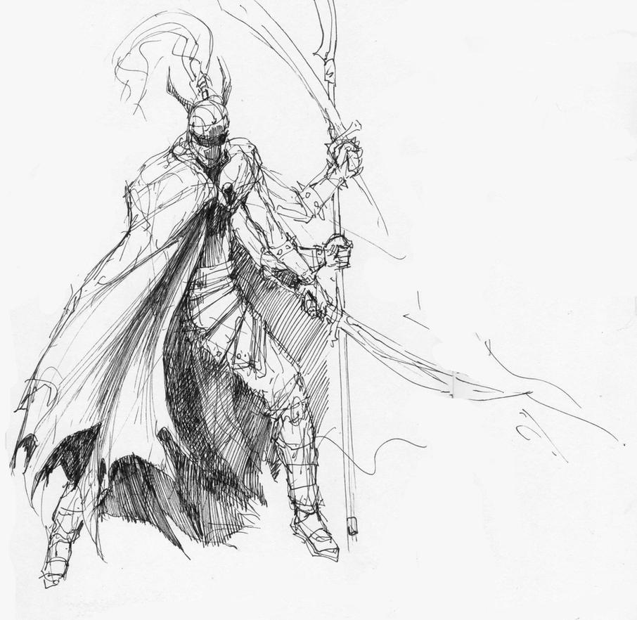 Gilgamesh FF8 - sketch by AlexSvartengel