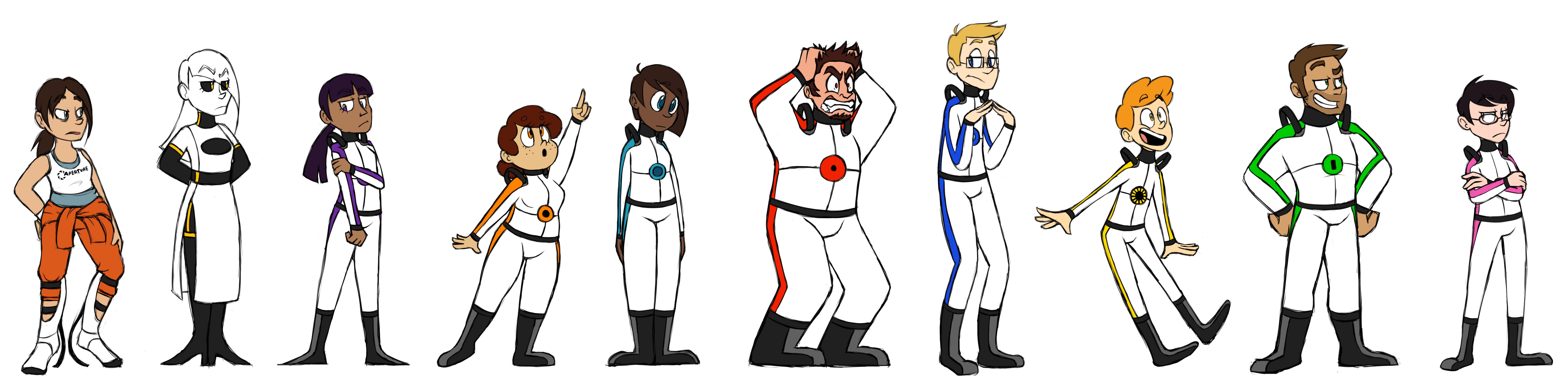 Portal Character Lineup By Pratzelwurm
