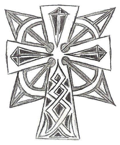 celtic-ish - chest tattoo