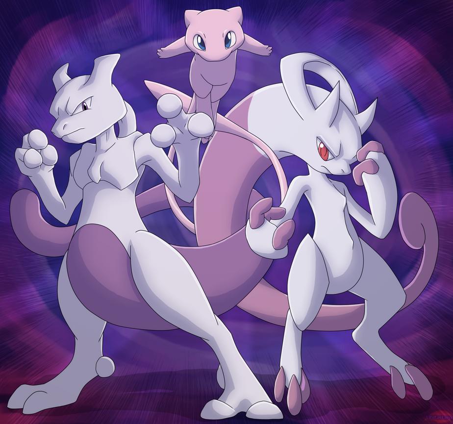Pokemon mew trio by lifefantasyx