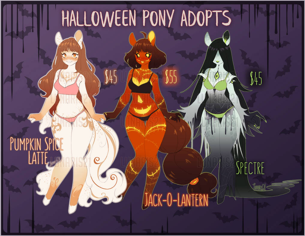 (NSFW) Halloween Pony Adopts [2/3 OPEN]