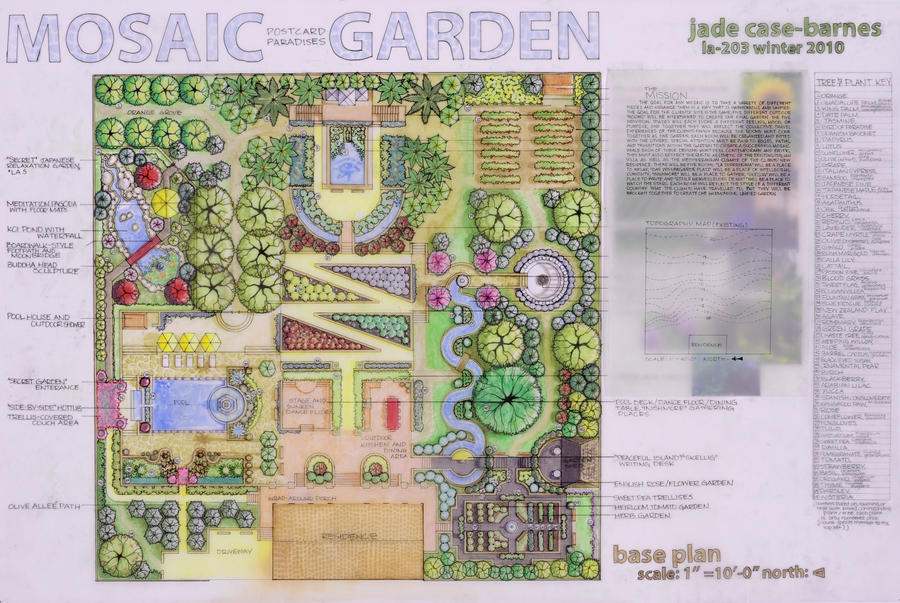 Mosaic Garden Plan by jade831sc