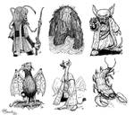 Illustrations - The Legends of Kralis Bestiary by JerryBoucher