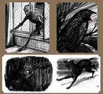 Spot illustrations for 'Casting The Runes' RPG by JerryBoucher