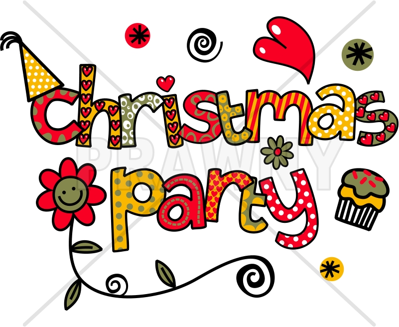 Christmas Party Images Clip Art.Christmas Party Doodle Text Clip Art By Doodleprawn On
