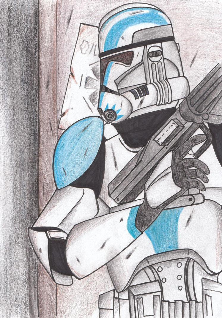 Clone trooper preparing to breach by Funtimes