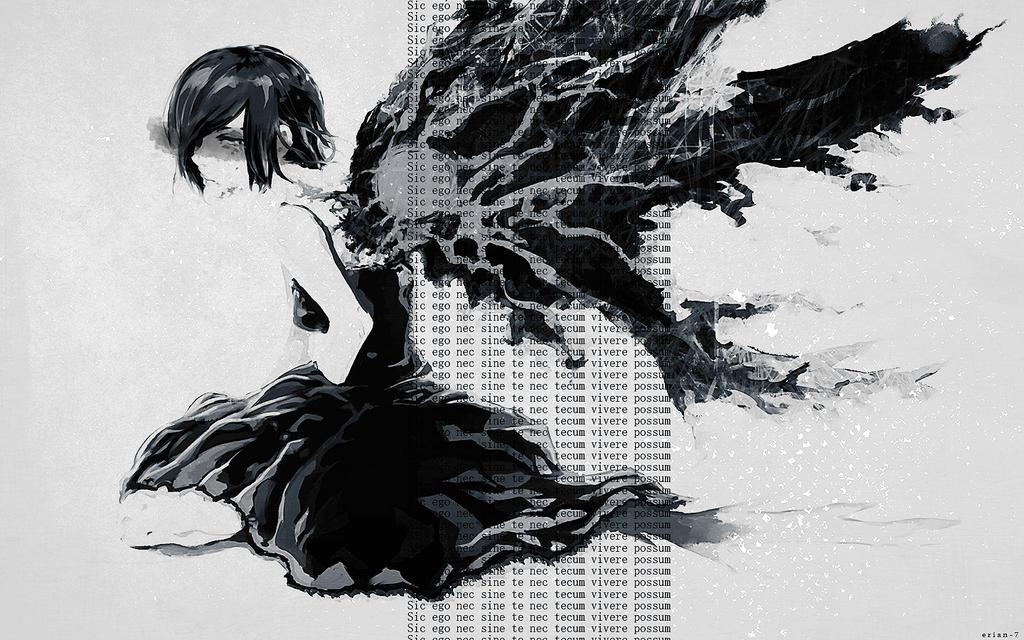 Wallpaper Touka Kirishima by Erian-7