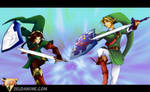 Zeldanime Link vs Oot Link