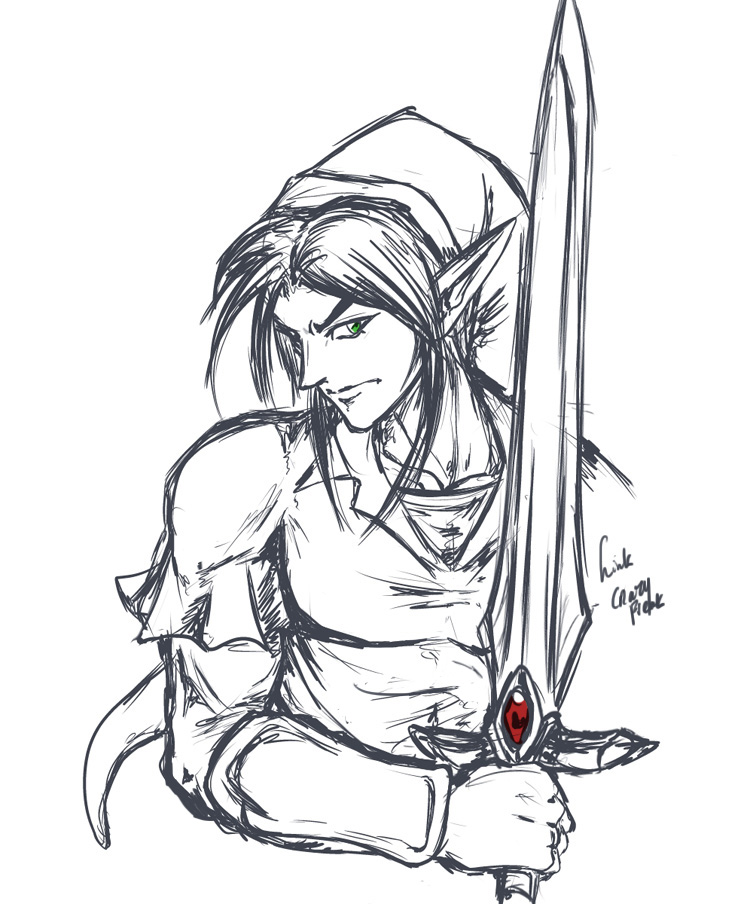 how to draw link from zelda twilight princess