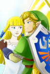 Skyward Sword Zelda and Link