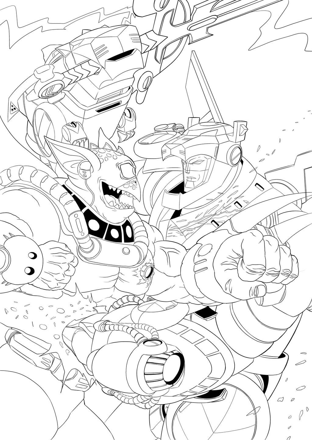 Voltron force cover ink by ultrachicken on deviantart for Voltron coloring pages free