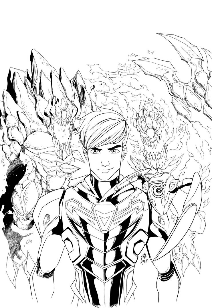 Max Steel vol.3 cover ink by ultrachicken on DeviantArt
