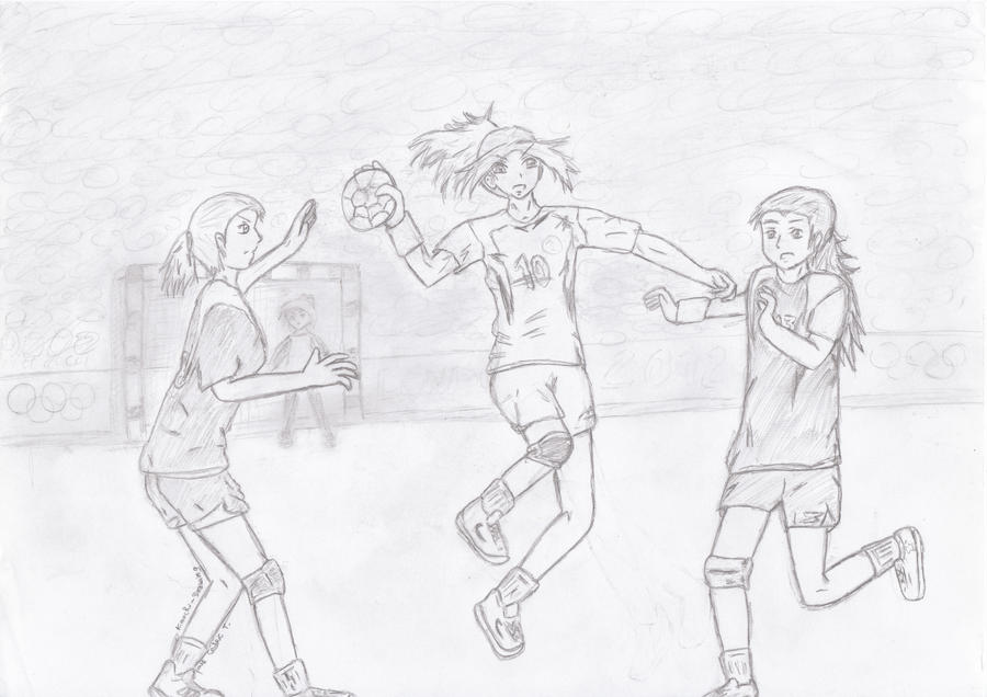 Handball girls by Sentimentetrange