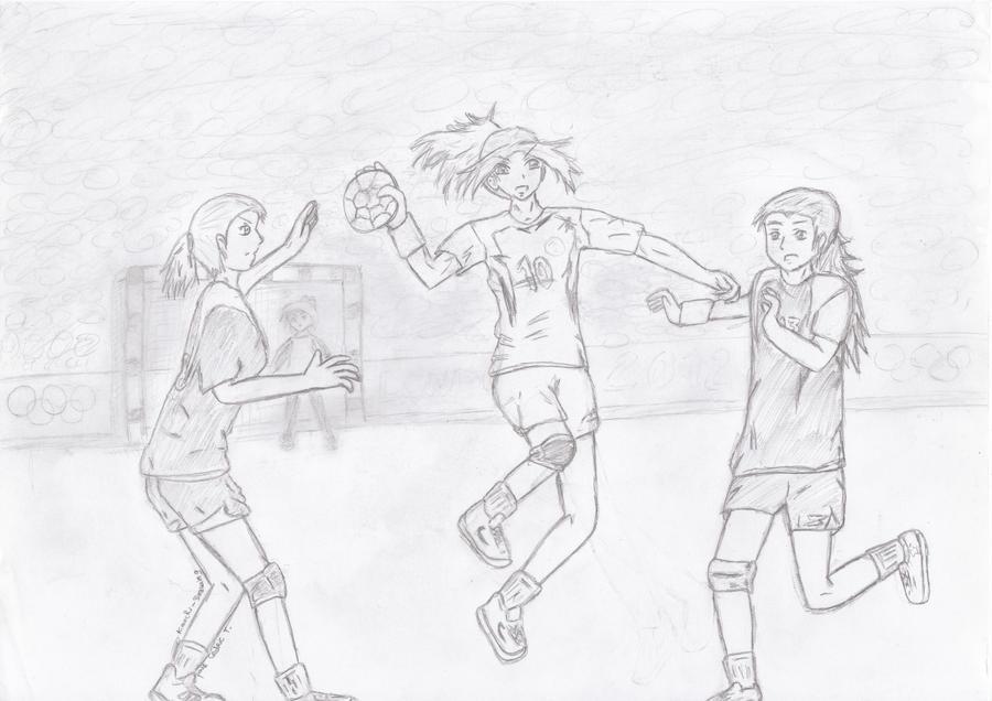 Handball girls by Sentimentetrange