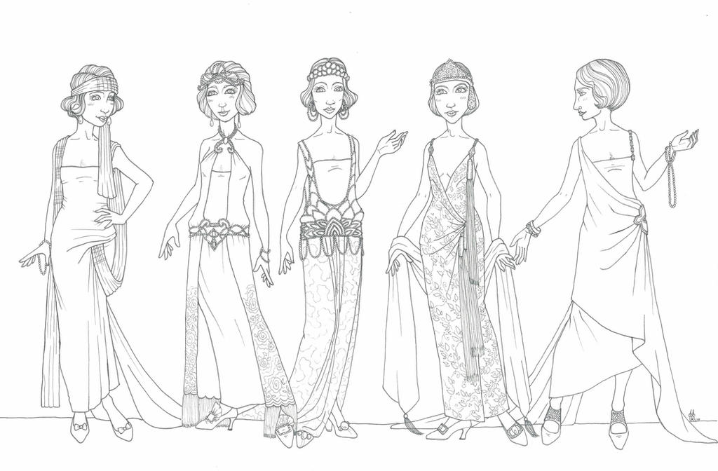 1920s Evening gowns by poorscribbler on DeviantArt