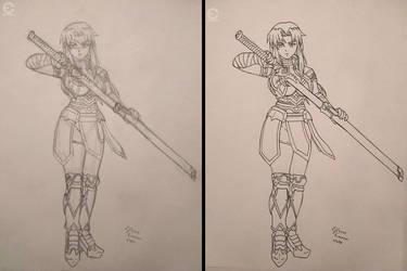 Sketch/Ink Hotaru (Adult), Fairly Tail OC by ANIMEFREAK93867