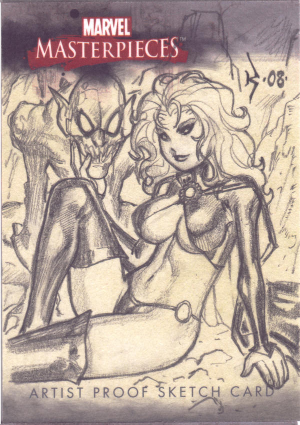 Goblin Queen Sketch Card by RyanKinnaird