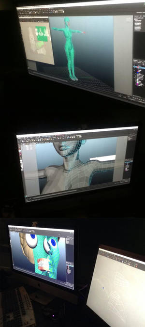 FIgure being modeled