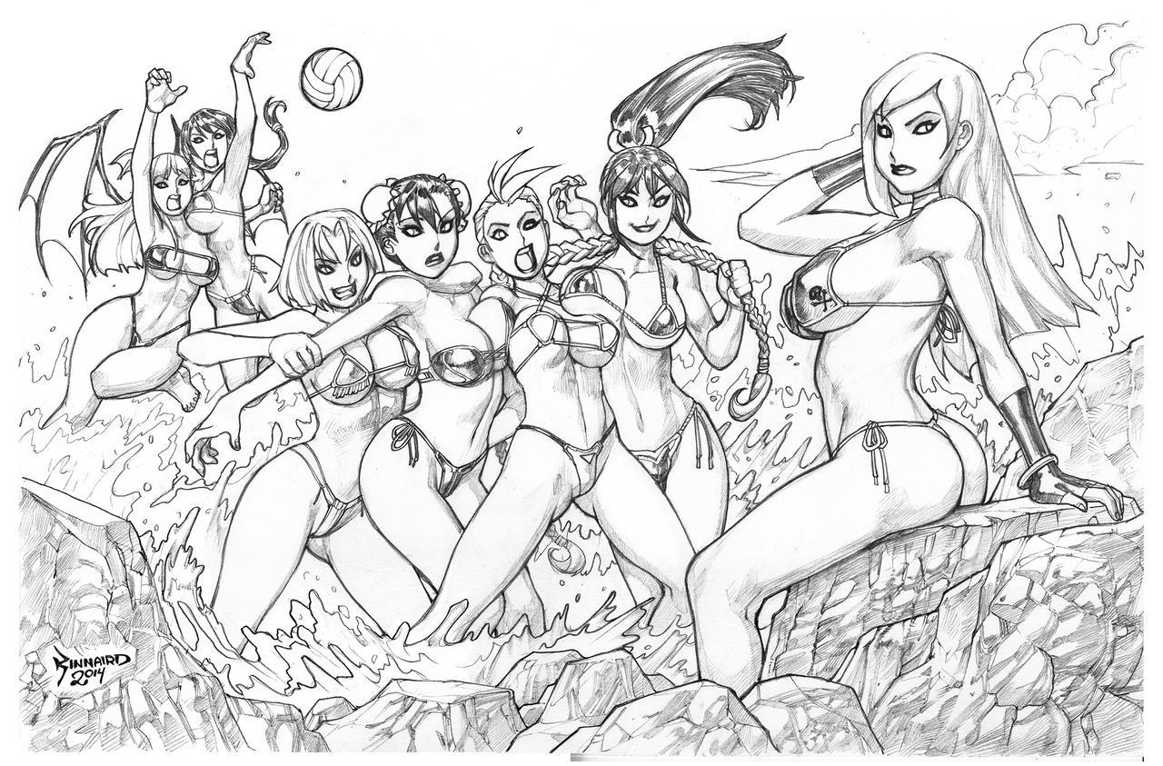 BEACH PARTY-sketch by RyanKinnaird