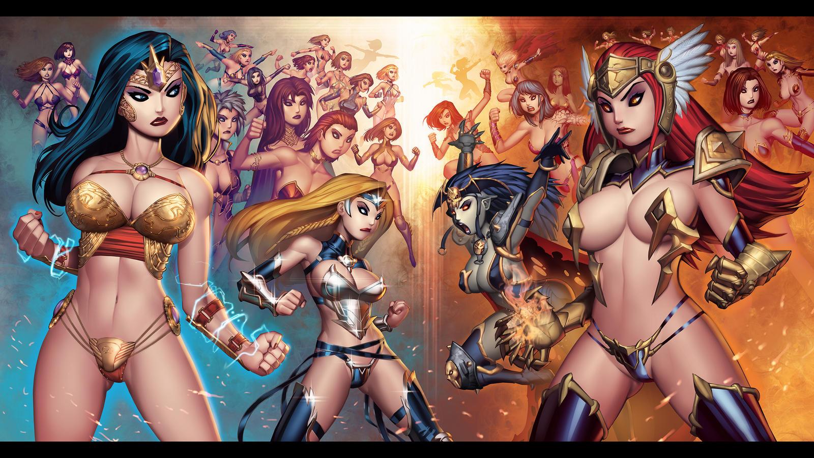 League of Maidens(VERSUS SHOT).COLOR by RyanKinnaird