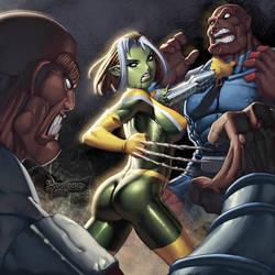 Rogue as a Skrull