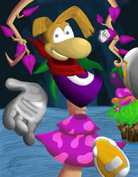 Holy Hell, I Finished Rayman by SciFiChicken