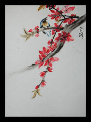 The Flowering Peach by xyunaxfantasiesx