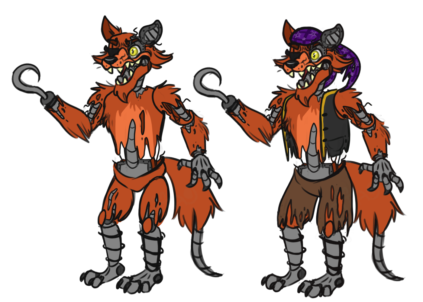 Withered Foxy Design