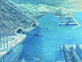 Submarine base by Dzz2000120T