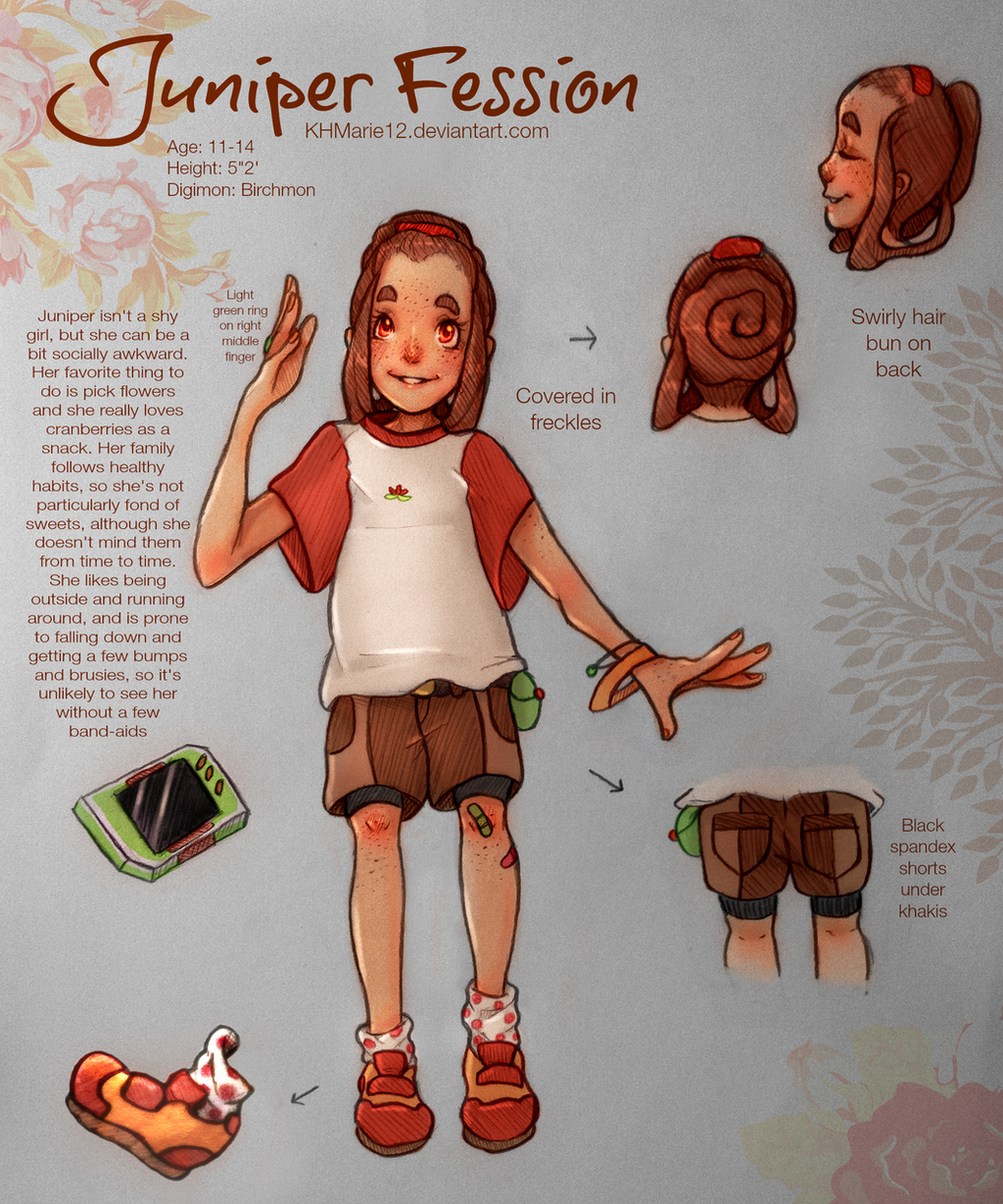 Character Design Competition 2015 : Digimon character design contest juniper by khmariexii on