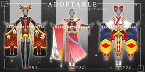 [OPEN][Auction]Adoptable Outfit #01-03 by SarochaHouse