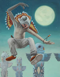 The Budgie Shaman by elftantra