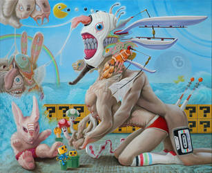 Auto-Erotic Sphinx with Toys by elftantra
