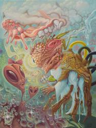 Mr. Crazy Bones Encounters Ms. Alien Head