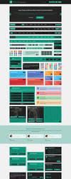 GreenSea Flat User Interface Kit by begha