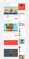 Logger Flat Blog Template Homepage1
