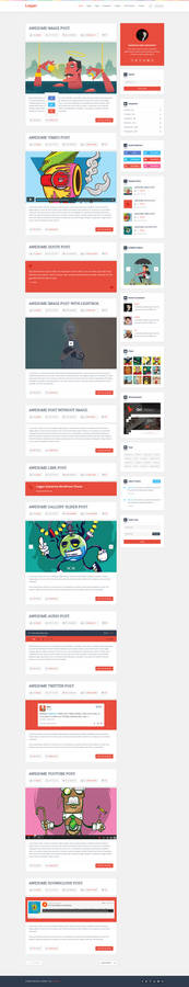 Logger Flat Blog Template Homepage1