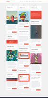 Logger Flat Blog Template Homepage3 3Columns