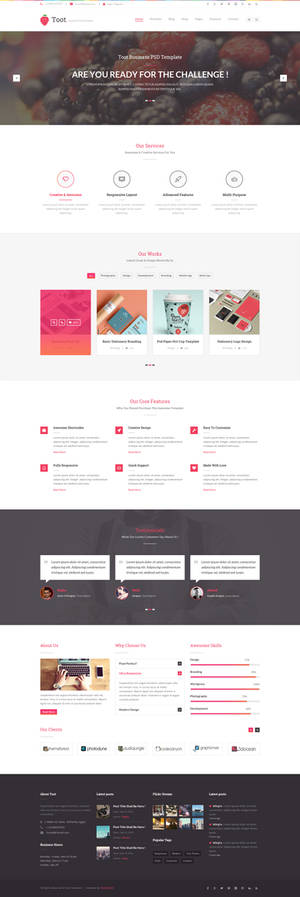 Toot Multipurpose PSD Template