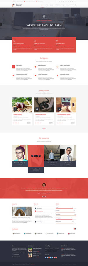 Coursat Awesome Course PSD Template