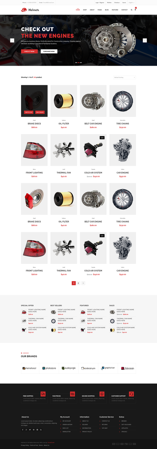 Helmets Ultimate Template for Handyman - Autoshop by begha