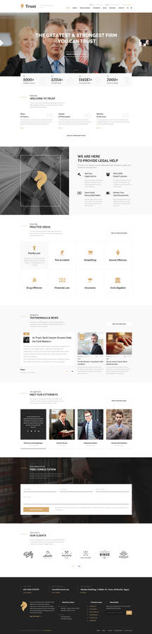 Trust - Lawyer, Attorney Business PSD Template