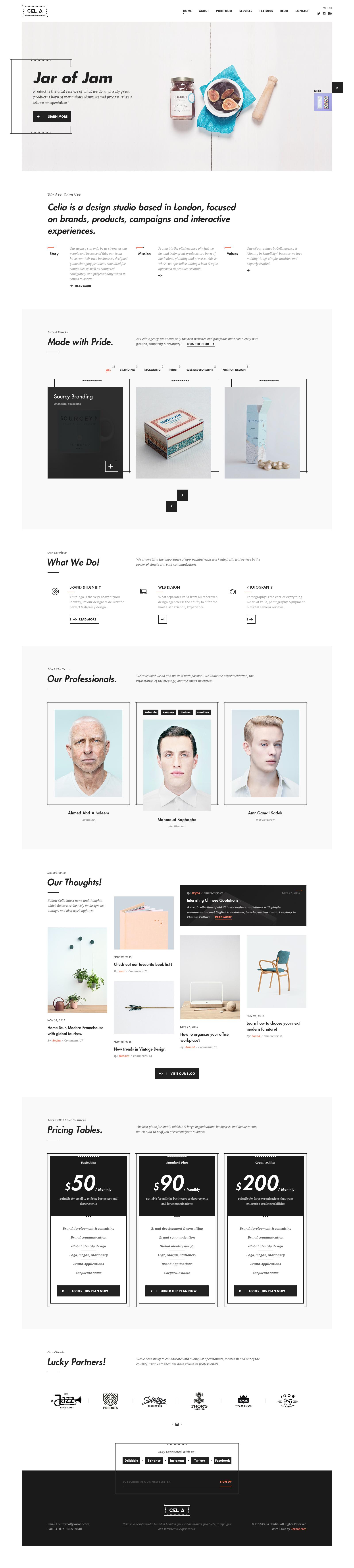 Celia - Creative PSD Template by begha