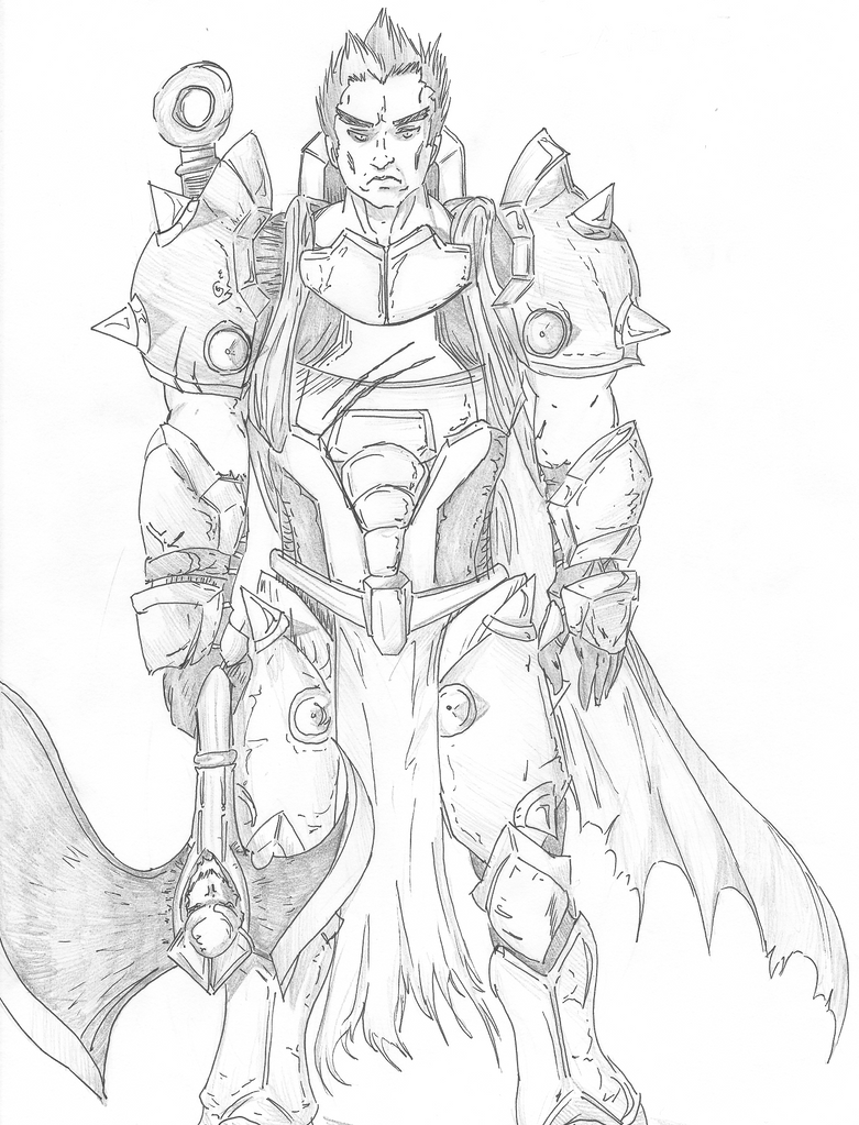 Darius, the Hand of Noxus by Gablart on DeviantArt