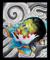 geisha head by eexell